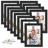 Giftgarden Cornici Foto 13 x 18 da Parete 12 Pezzi Set Cornici da Tavolo, Nero