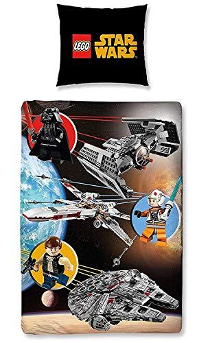 Lego Star Wars Kinder FLANELL / BIBER Bettwäsche Wende Motiv warm & kuschelig 2 tlg. Kissenbezug 80x80 + Bettbezug 135x200 cm 100 % Baumwolle (Bettwäsche Star Trek)