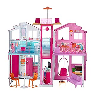 Barbie-la Casa di Malibu per Bambole con Accessori e Colori Vivaci, Giocattolo per Bambini 3+ Anni, 18 x 41 x 74.5 cm, DLY32 (B01DUK4FFM) | Amazon price tracker / tracking, Amazon price history charts, Amazon price watches, Amazon price drop alerts