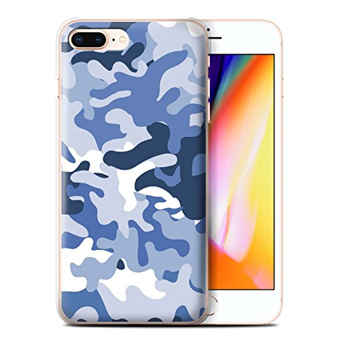 Coque de Stuff4 / Coque pour Apple iPhone 7 Plus / Blanc 2 Design / Armée/Camouflage Collection Bleue 1