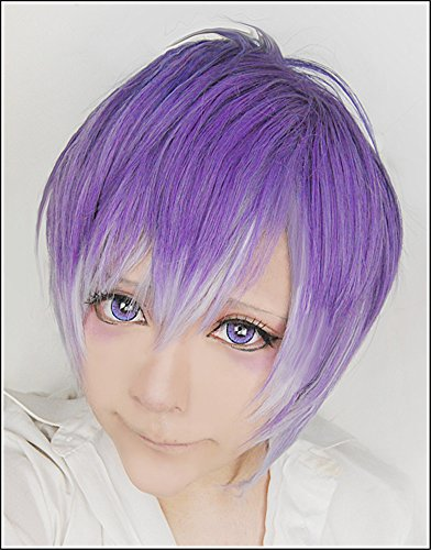 Kostüm Sakamaki Kanato (LanTing Cosplay Perücke DIABOLIK LOVERS Sakamaki Kanato Purple Mix Cosplay Party Fashion Anime Human Costume Full wigs Synthetic Haar Heat Resistant)