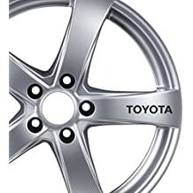 6 x Toyota Alloy Wheels Stickers AURIS, VERSO, AVENSIS, GT86 Car Tuning