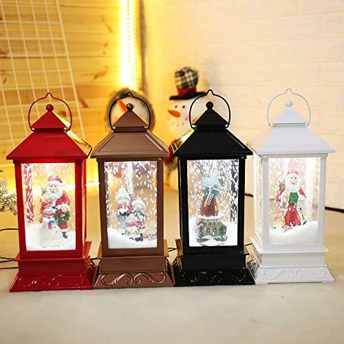 WFRAU Weihnachtsdekoration Spieluhr Led Lichter mit Schneekugel Wasserkugel Romantische Dekoration Weihnachtsdeko