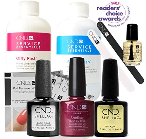 CND SHELLAC Starter Kit - Top, Base, Essenstial + Color - Maquerade, 500 ml