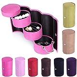A2zonlinekingPortable Mini Three Layers Round Jewelry Cosmetic Box Organizer (MULTI COLOR)
