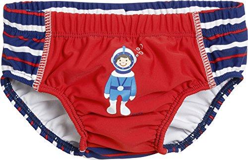 Playshoes Baby-Jungen Schwimmwindel Windelhose Taucher mit UV-Schutz, Rot (Rot 8), 86 (Herstellergröße: 86/92)