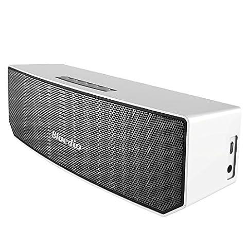 Bluedio BS-3 (Chameau) Enceinte Bluetooth Portable 3D audio Aimants en Néodyme Révolutionnaire/ 52mm. du Drive/ Enceinte sans fil avec la basse riche/ 3D stéréo surround scène Excellente Emballage détaillant de cadeau (Blanc)