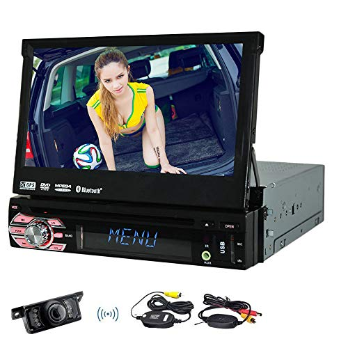 EINCAR In Dash Single 1 L?rm-Auto-DVD-Spieler GPS-Sat Navigation kapazitives Touchscreen Autoradio Autoradio AM FM-Radio Bluetooth SD Unterstützungs-USB-MP3-Lenkrad-Steuerung + Wireless Rückfahrkamer (8 Subwoofer-box Lkw)