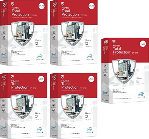 McAfee Total Protection - 5 PCs, 1 Year (CD)