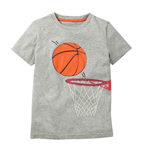 wuayi Kleinkind Kinder Baby Jungen Mädchen Kurze Ärmel Tennis Basketball Volleyball Bedrucktes T-Shirt Tops Shirts Tees