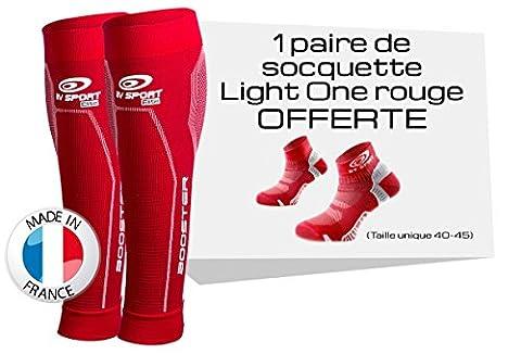 BV SPORT BOOSTER ELITE ROUGE + PAIRE DE SOQUETTES LIGHTONE OFFERTE Compression progressive