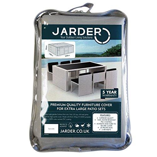 Jarder Housse de Mobilier de Jardin, Housse de Protection pour Table Rectangulaire | 100% Résistant à l'Eau (XL)