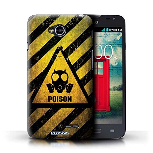 Kobalt® Imprimé Etui / Coque pour LG L70/D320 / Radiation conception / Série Signes de Danger Poison