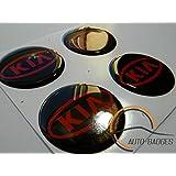 X4 KIA WHEEL CENTER CAP HUB BADGES 50MM