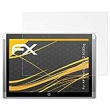 atFolix Panzerfolie kompatibel mit HP Pavilion x2 12-b030ng Schutzfolie, entspiegelnde & stoßdämpfende FX Folie (2X)