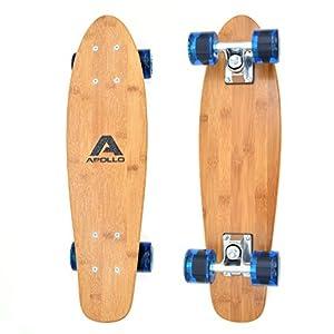 Apollo Fancy Board Tavola Cruiser Completa Vintage | Dimensioni: 22.5'' (57,15 cm) | Skateboard Piccolo e maneggevole| Colore: Vari Colori