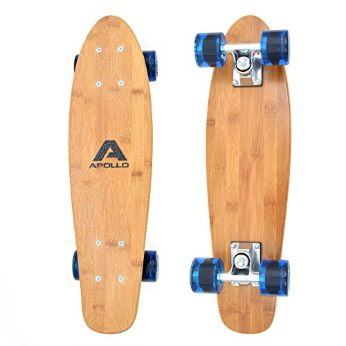 Fancy Board Apollo - Tavola Cruiser Completa Vintage | Dimensioni: 57,15 | Colore: Wood/Classic Blue| Skateboard Piccolo e maneggevole…
