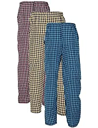 FN Style Cotton Chekered Multicolour Casual Pyjamas for Mens (Pack of  3)(Medium bf7852335