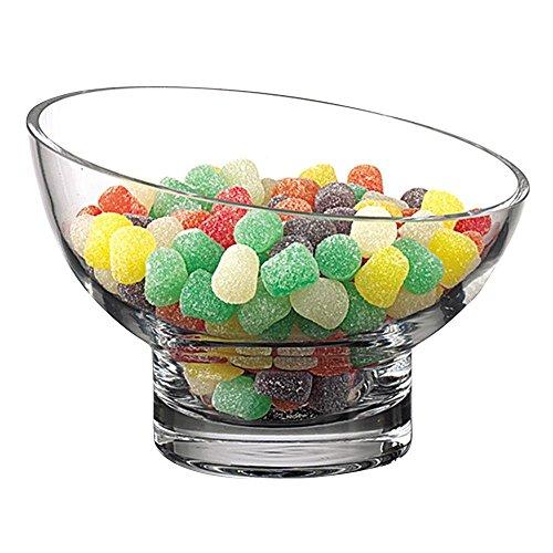 Crystal Candy Dish Bowl (Slant 6 diameter Candy Bowl by Badash)