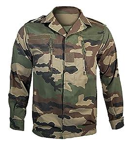 Veste De Treillis Militaire F2 De L'armee Francaise Camouflage Centre Europe Cce Miltec 91193410-104 (m/l) Airsoft Chasse