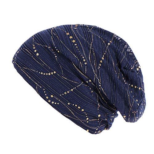 Sonnenhut strandhut, Frauen muslimischen Frontal Lace Cross Bonnet Hijab Turban Hut Chemo Hut (Kleines Logo Fitted Hat)