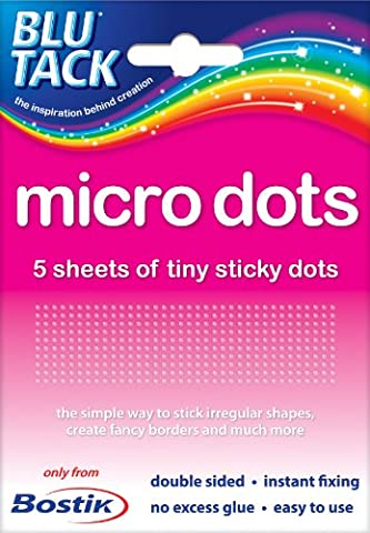 2 x Packs of Bostik Blu Tack Micro Tiny Sticki Sticky Glue Adhesive Double sided Dots. Manufacturer part number: 805972 by Bostik