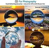 MerryNine, sfera di cristallo trasparente, oggetto di cristallo decorativo, da scena e fotografia, K9, plastica, 3-1/5' DIA, K9 Clear