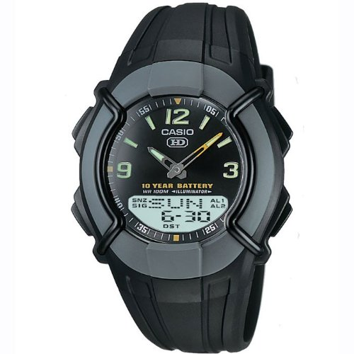 CASIO Collection HDC-600-1BVES - Reloj de caballero de cuarzo, correa de resina color negro (con cronómetro, alarma, luz)