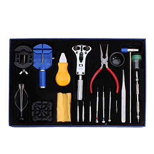 Generic yc-uk2–151124–248< 1& 5699* 1> pin Barol ruota posteriore della cassa 20PZ orologiaio Opener Remover Tool kit di riparazione orologi Spring pin bar 20PCS orologio
