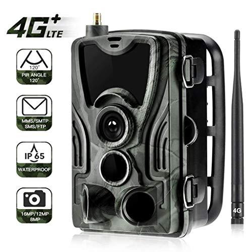 ildlife Trail Kamera 16MP 1080P Infrarot-Nachtsicht-Bewegung Aktivierte Wild Game Cam 120 ° Reichweite 0,3s Auslösergeschwindigkeit IP65 Wasserdicht 5000mA Wiederaufladbar ()