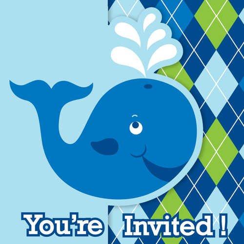 8-count Party Einladungen, ocean Preppy Boy Geburtstag