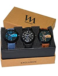 Watch Me Analogue Multi-colour Dial Men's Watch-WMC-004-WMC-003-WMC-001,(Set Of 3, Formal-Casual-Semi Formal Watches)
