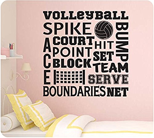 wandaufkleber 3d schlafzimmer Volleyball Sports Sayings Collage