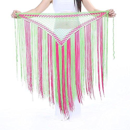 Für Dance Kostüm Verkauf Tribal - Byjia Dance accessories Dame Bauchtanz Kostüm Hip Schal Gürtel Tribal Quaste Schals Wrap Gürtel Taille Kette Rock 4 One Size