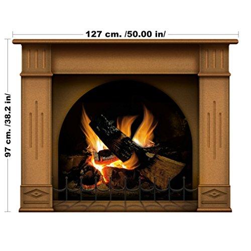lepni.me Vinyl Kamin Wandaufkleber - Wallpaper Grafik Dekoration für Schlafzimmer oder Wohnzimmer in Ihrer Wohnung oder Haus