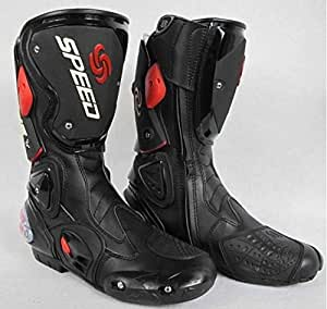 Pro Biker SPEED Motorcycle Sports Racing / Riding Boots Black (8)