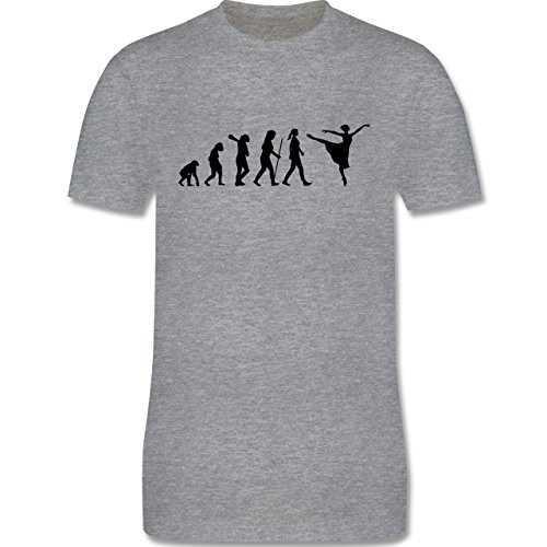 Evolution - Ballett Evolution - Herren Premium T-Shirt Grau Meliert