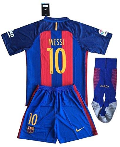 Preisvergleich Produktbild Barcelona Messi # 10Fußball Trikot Set & Socken Kinder/Jugendliche 9–10Jahren
