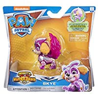Paw Patrol 6052293 Rubble, Mighty Super PAWs Hero Pup Figures with Transforming Backpack Assortment (Styles may Vary-One Supplied), Multi-coloured