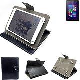 K-S-Trade Schutz Hülle Tablet Case für HP Pro Tablet 408 G1, schwarz. Tablet Hülle mit Standfunktion Ultra Slim Bookstyle Tasche Kunstleder