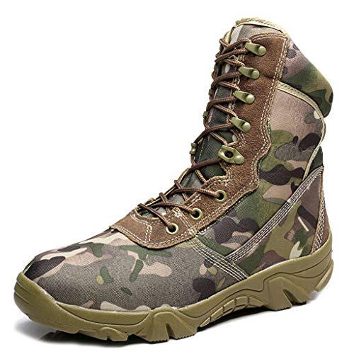 MERRYHE Camo Armee Militärische Taktische Stiefel High Top Kampfstiefel Oxford Tuch Wandern Camping Schuhe Sicherheitspolizei Spezialeinheiten Boot,Camouflage-43