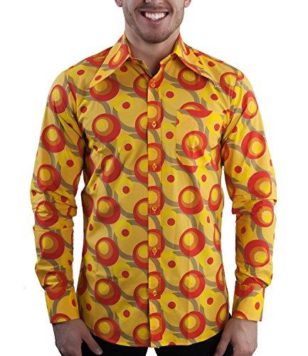 d Dots orange, Orange, L (70er Disco-shirts)