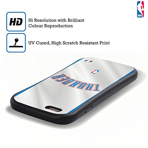 Ufficiale NBA Banner Oklahoma City Thunder Case Ibrida per Apple iPhone 6 / 6s Maglia