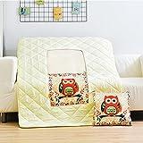 Jikonghome Cuscino Quilt Due Poggiatesta Dell'Auto Office Cuscini Auto-Tre-In-One Piccolo Blanket ,150*180Cm, La Passera Pianuzza