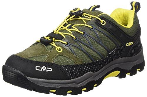 Rigel, Zapatos de Low Rise Senderismo para Mujer, Gris (Grey-Red Fluo), 37 EU F.lli Campagnolo