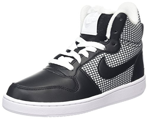 Nike Tops Laufschuhe High (Nike Damen Court Borough Mid SE Hohe Sneaker, Weiß (White/Black), 39 EU)