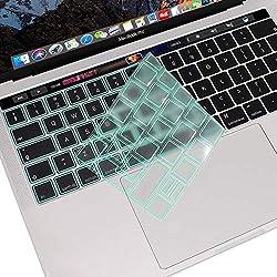MOSISO AZERTY Protection Clavier Compatible avec MacBook Pro 13/15 Pouces Touch Bar 2019-2016 A2159/A1989/A1706/ A1990/A1707 Premium Qualité Ultra Slim Protection Clavier, TPU Vert Menthe