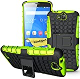 Huawei Honor Holly Handy Tasche, FoneExpert® Hülle Abdeckung Cover schutzhülle Tough Strong Rugged Shock Proof Heavy Duty Case für Huawei Honor Holly + Displayschutzfolie (Grün)