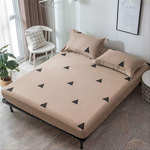 Lyrbeibei 100% Baumwolle streifendruck matratzenbezug Bett matratzenschoner wasserdichte bettdecke Twin bettwäsche elastische Spannbetttuch 28 cm Bett 180x200 cm style7 (Twin Bettdecke 100 Baumwolle)