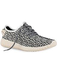 napoli-fashion - Zapatillas para deportes de exterior de tela para hombre, color Blanco, talla 44